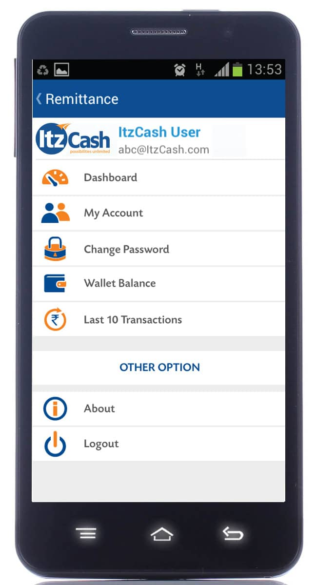 ItzCash Mobile Remittance App